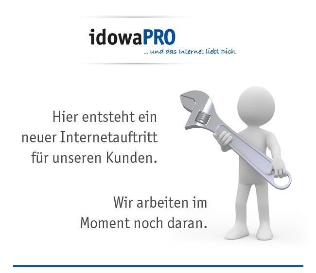 idowaPRO - Hier entsteht eine neue Internetpäsenz